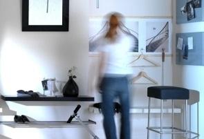 بساط الرسم في الممر