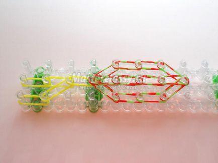 Hogyan szőni egy teknős a gumiszerű csúzli, és fokozatosan a gépen