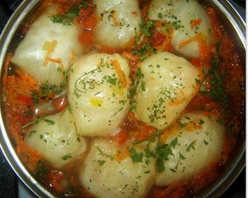 Голубці з м'ясом і рисом - простий і смачний покроковий рецепт
