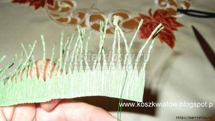 Jak zrobić szyszki z papieru falistego