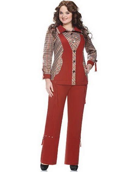 Брючні костюми великих розмірів для повних жінок (90 фото) красиві жіночі  костюми з Білорусії 5f1c67c6e729d