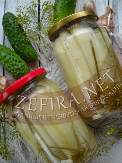 Мариновані на зиму огірки без шкірки - кулінарні рецепти люблячої дружини
