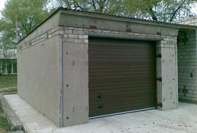 Залізобетонний гараж збірний, розмір, вага, готовий, з плит, розбірний