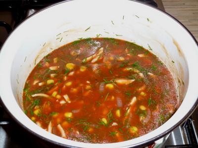 Рецепт томатного супу з кукурудзою і куркою - покроковий рецепт з фото як приготувати