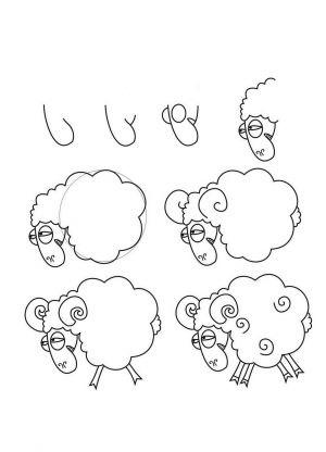 Jak narysować pysk jagnięcia