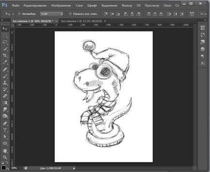 Jak narysować węża w lekcji Photoshopa w rysunku i projektowania w Adobe Photoshop