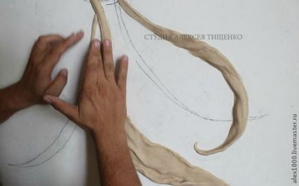 Барельєф - квітка - своїми руками