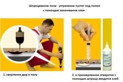 Усунути скрип підлоги без розтину варіанти