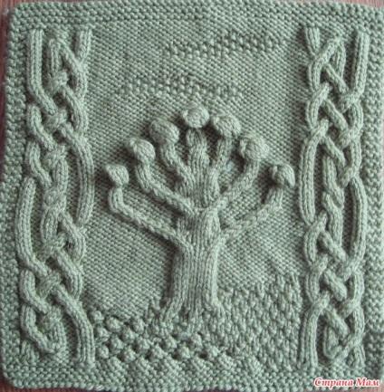 Арани або ірландський оберіг - в'язання спицями - країна мам