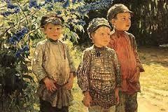 Якими словами передано ставлення поета до селянських дітей