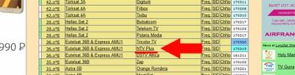 Wyszukiwanie kanałów NTV-plus na andromedzie