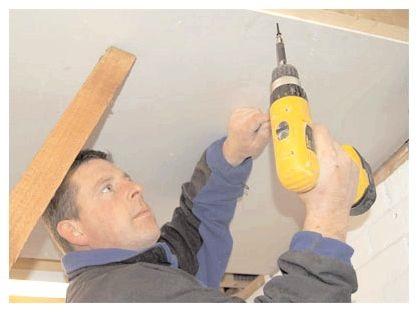 Як встановити гіпсокартон на стелю і стіни своїми руками, postroydo