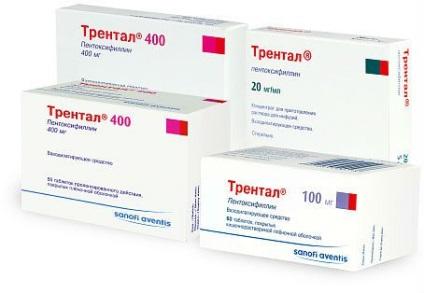 preparate de pentoxifilină pentru osteochondroză)