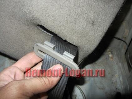 Як зняти задні ремені безпеки, ремонт рено логан