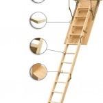 Які бувають висхідні сходинки на горище, мансарду або дах