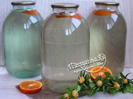 Березовий сік з апельсином рецепт з фото крок за кроком
