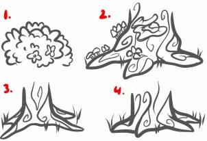 Jak narysować las, tła leśne - narysuj zabytki