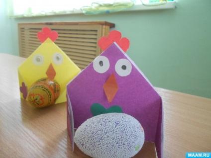 Wielkanocny Kurczak Z Papieru Do Dekoracji Swiatecznego Stolu