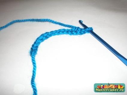 В'язані сережки з бісером