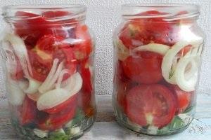 Салат з помідорів на зиму в банках покрокові рецепти з фото і відео