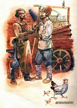 Півник і бобове зернятко - російські народні казки
