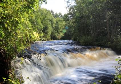 Водоспад Падун на річці тагажма, Витегорський район (Вологодська область) - вологодський край - авто