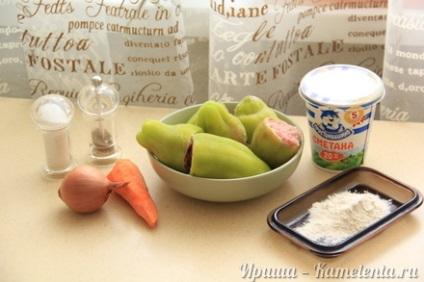 Фарширований перець в сметані рецепт з фото, як приготувати фарширований перець в сметані