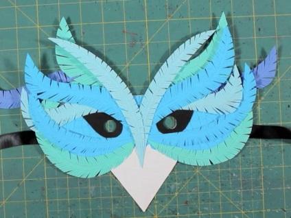 Jak zrobić maskę z kukułką z papieru własnymi rękami