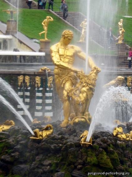 Фонтан Самсон, фонтан Самсон фото, самсон (фонтан), передмістя Петербурга