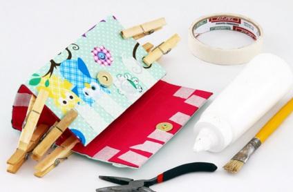 Сумочка - клатч з коробки від молока
