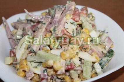 Прості салати на швидку руку - для несподіваних гостей рецепти з фото і відео