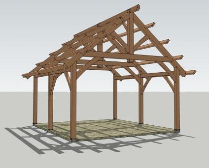 Дерев'яний і каркасний гараж з дерева своїми руками креслення, фото проектів і приклади робіт