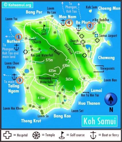 Пірси Самуї опис і розташування на карті