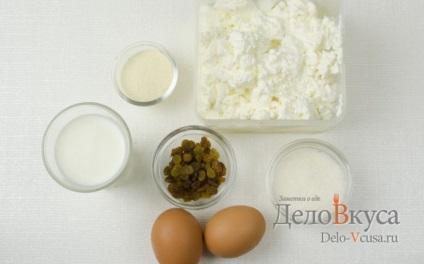 Сирна запіканка рецепт з манкою і родзинками