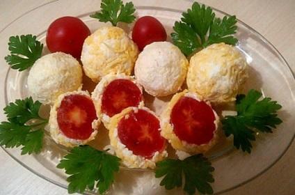 Przepis przekąska z małych odmian pomidorów krok po kroku ze zdjęciami