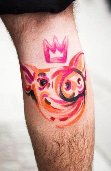 Tatuaże Na łydce Tatuaż Męski I żeński Zdjęcie