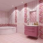 Рожева плитка для ванної та інші матеріали для обробки