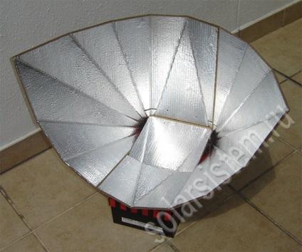 Похідна сонячна піч з картону