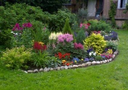 van egy magányos virágoskert