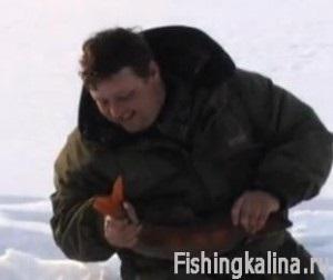Łapanie siei i omul na Baikal od lodu