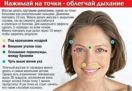 Точковий масаж при нежиті і закладеному носі
