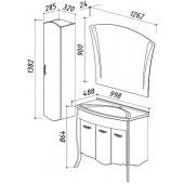 Меблі для ванної кімнати Белюкс бриз за вигідною ціною купити в магазині Белюкс