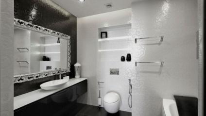 Fekete-fehér fürdőszoba fotó