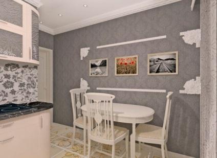 Оформление пустой стены на кухне