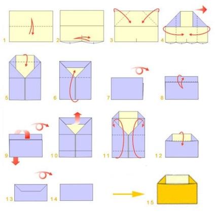 Как сделать конверты из бумаги схема 944