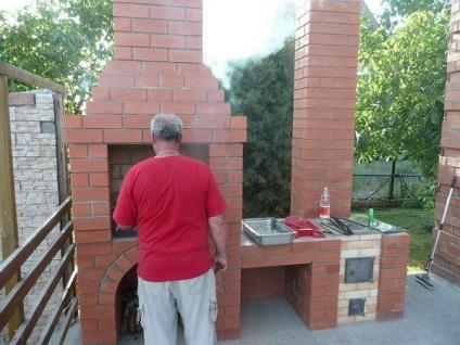 Уличная печь с мангалом своими руками на даче 63