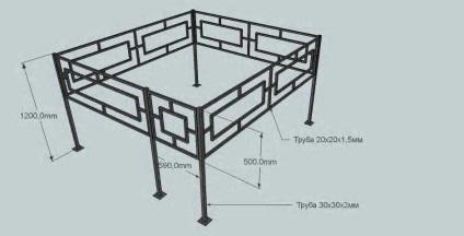 Как сделать ограду на могилу размеры