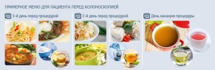 Diétás menü előtt kolonoszkópia bél, egészséges ételek, receptek