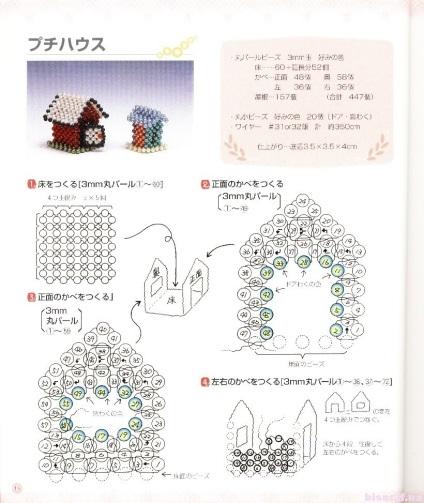 Кукольный домик из бисера и их схема