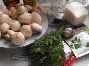 Milyen gyorsan és finom receptek Gomba páclében pácolás gombát otthon